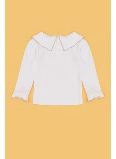 BG Baby Kız Bebek Ekru T-Shirt 20Fw1Bg2532 Ekru